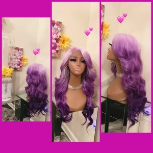 Human Hair blended lace front wig 💜💜💜💜